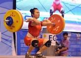 Championnats d'Asie d'haltérophilie 2019: le Vietnam remporte trois médailles d'or