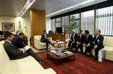 Le vice-président brésilien reçoit un vice-président de l'AN vietnamienne