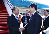 Le Premier ministre Nguyên Xuân Phuc arrive à Pékin