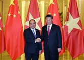 Entrevue entre Nguyên Xuân Phuc et XiJinping