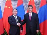 Entretien entre les présidents chinois et mongol