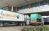 Exportations de produits agricoles via la porte frontalière internationale de Lào Cai en hausse