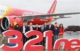 Vietjet reçoit son Airbus A321neo à Toulouse