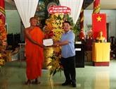 Félicitations aux Khmers à l'occasion de la fête Chol Chnam Thmay à Hâu Giang