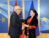 La présidente de l'AN rencontre le président de la Commission européenne