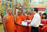 Fête du Nouvel An des Khmers : le président du Comité central du Front de la Patrie à Soc Trang