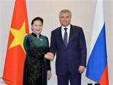 Entrevue entre Nguyên Thi Kim Ngân et Vyacheslav Volodin