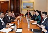 La présidente de l'AN Nguyên Thi Kim Ngân rencontre son homologue srilankais