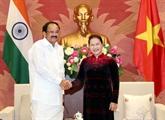 La présidente de l'Assemblée nationale vietnamienne reçoit le vice-président indien
