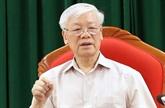 Nguyên Phu Trong à une réunion avec les dirigeants du pays