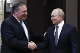 Syrie: Pompeo exprime sa satisfaction quant à sa rencontre avec Poutine sur le règlement politique de la crise
