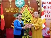 Félicitations au conseil d'administration du Comité central de l'Église bouddhique du Vietnam