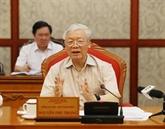 Nguyên Phu Trong cite des orientations dans la préparation du Congrès national du Parti