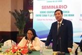Vietnam - Cuba: un séminaire sur la coopération bilatérale dans la santé