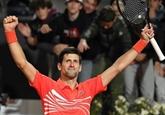 Tennis: Djokovic rejoint Nadal en finale à Rome