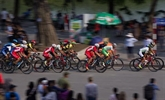 Début de la course cycliste par étapes