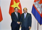 Le Premier ministre vietnamien reçoit des dirigeants laotiens et cambodgiens