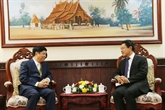 Une délégation du ministère vietnamien des Affaires étrangères au Laos