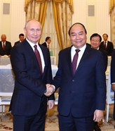 Entrevue entre Nguyên Xuân Phuc et VladimirPoutine