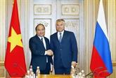 Le Premier ministre vietnamien rencontre le président de la Douma