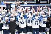 Hockey sur glace: les Finlandais remportent un troisième titre surprise