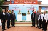 Inauguration des bustes du Président Hô Chi Minh et du héros du peuple philippin José Rizal