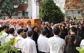 Cérémonie d'enterrement de l'ancien président Lê Duc Anh à Hô Chi Minh-Ville