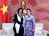 La présidente de l'AN reçoit la cheffe du Parquet populaire suprême de Cuba