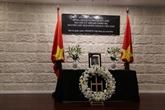 Décès de l'ancien président Lê Duc Anh:condoléances dedirigeants étrangers