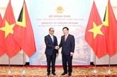 Vietnam - Timor-Leste: entretien entre les chefs de la diplomatie