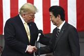 Abe s'entretient par téléphone avec Trump