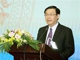 Le vice-Premier ministre Vuong Dinh Huê va se rendre au Myanmar et en R. de Corée