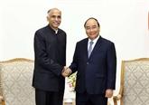 Le Premier ministre Nguyên Xuân Phuc reçoit l'ambassadeur de l'Inde au Vietnam