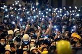 Chine: manifestations devant le QG de la police à Hong Kong