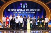 Remise des Prix nationaux de la presse 2018