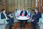 Le PM vietnamien rencontre ses homologues laotien et cambodgien