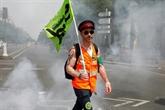 Les cheminots à Paris contre une réforme