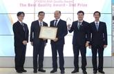 Vietnam Airlines: la compagnie des services subsidiaires reçoit le prix
