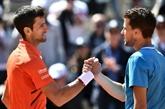 Djokovic stoppé par Thiem qui rejoint Nadal en finale
