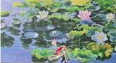 Une fresque de lotus et un jacuzzi en mosaïque exposés en Italie