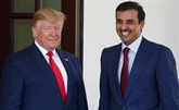 Donald Trump rencontre l'émir du Qatar
