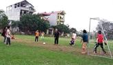 Un village amoureux du football en banlieue de Hanoï
