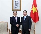 Le vice-PM Vuong Dinh Huê reçoit le président de la KRC