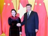 La présidente de l'AN vietnamienne rencontre le leader chinois