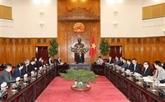Le Premier ministre reçoit des hommes d'affaires singapouriens