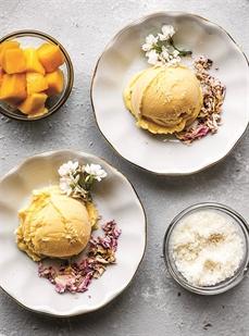 Crème glacée aux saveurs tropicales