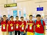 Maths: tous les candidats vietnamiens au concours WMI 2019 sont primés