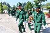 Inhumation des restes de soldats tombés au Cambodge