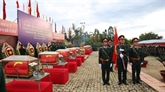 Binh Phuoc: inhumation des restes de 23 soldats tombés au Cambodge