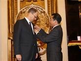 L'Ordre de l'Amitié à l'ambassadeur d'Allemagne au Vietnam